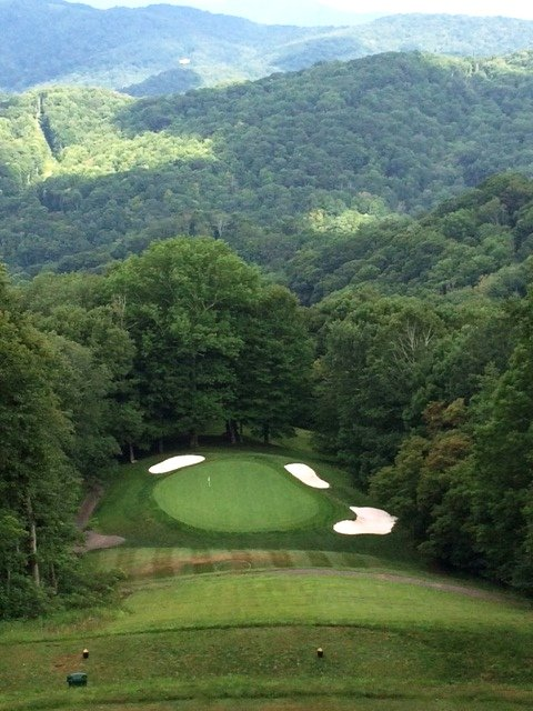 North Carolina mountain home golf